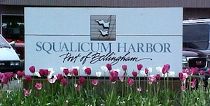 Squalicum Harbor sign